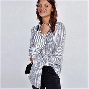 MADEWELL Bristol Stripe Oversized Button Shirt
